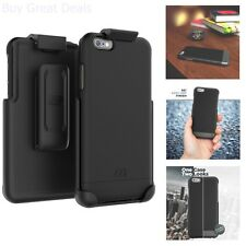Belt Clip Holster Case Slim Secure Cover Smooth Black 6.2In For iPhone 6S Plus