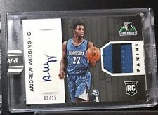 2014 Panini NBA Finals Private Signings AW Andrew Wiggins Auto ENCASED RC 2/25