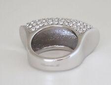 Ricarda M. Ring mit vielen Kristallen Gr.17 rhodiniert NEU