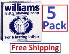 Williams Mug Shaving Soap - 1.75 oz  (5 pack) ALWAYS FRESH ! ! !