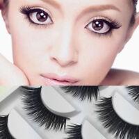5Pcs Magnetic Eyelashes 3D Handmade Reusable False No-glue Magnet Eye Lashes