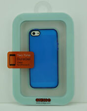 Ondigo iPhone 5 Two Tone DuraGel Case Clear Blue/Dark Blue