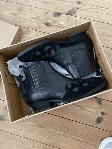 ASOS Design Cuban Heeled Western Black Chelsea Boots, Size 9/43
