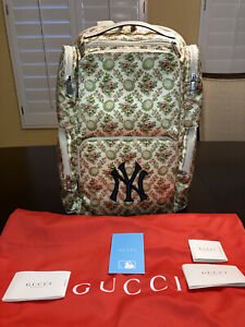 New Authentic Limited Edition Gucci NY Yankees Floral Backpack Large