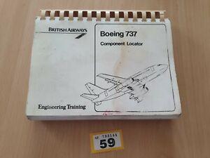 Genuine Original Boeing 737 Engineering Training Component Locator British Airwa
