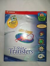 New Canon T Shirt Transfers Tr 101 10 85 X 11 Sheets Software Iron On Paper