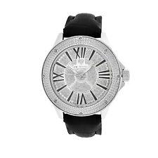 Uomo Ice Mania IM3081 Originale Diamante Illusione Quadrante Nero Marker Watch