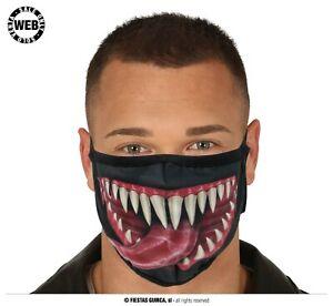 Mascherina Mostruosa Venom Uomo Ragno Horror Travestimento Halloween