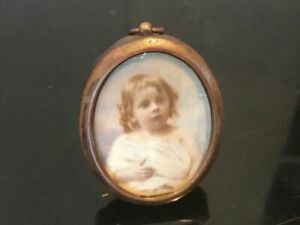 Miniature PAINTING of young child dated 1903