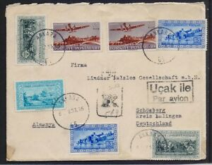 TURKEY 1953 REGISTERED MAILED COVER TO GERMANY FROM ANKARA