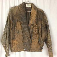 Leather Bomber Jacket & Skirt H & D PTY. LT  Rock 90's Boho  Retro Australia S