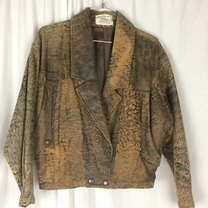 Leather Bomber Jacket & Skirt H & D PTY. LT  Rock 90's Boho  Retro Australia S