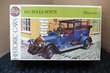 VINTAGE AIRFIX 1/32 191 ROLLS ROYCE MODEL KIT BOXED CAR 1974 & PAPERWORK