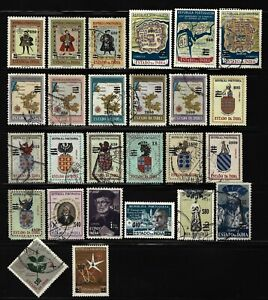 Portuguese INDIA - 26 different stamps with SURCHARGE from 1959