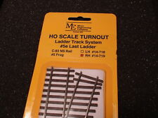 Micro- Engineering #14-719 HO LADDER TRACK SYSTEM TURNOUT RH #5e Code 83