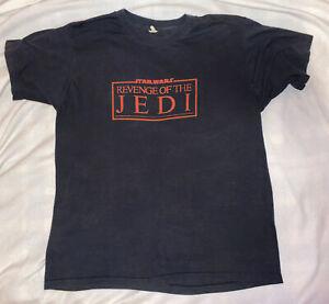 Vintage 80s Star Wars Revenge Of The Jedi Misprint T-Shirt Size Men's Large