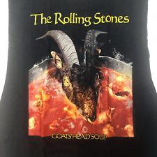 ROLLING STONES Goats Head Soup T-Shirt Men's L Large Black Tee VTG 2003 Vintage