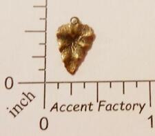 32733     4 Pc. Brass Oxidized Small Leaf Charm Jewelry Finding