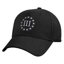 III Percenter Ball Cap 3 % Percent Patriotic Biker Army USMC Navy Patriot Hat