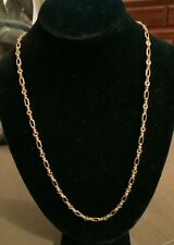 """Signed Vintage Monet Elegant Gold Chain 24"""" Perfect Condition"""