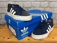 ADIDAS OG UK 13 EU 31.5 NAVY BLUE WHITE NIZZA LO TRAINERS CHILDRENS BOYS GIRLS