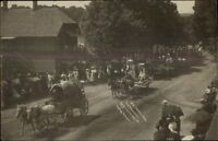 Rushford NY Old Home Week Parade c1910 Real Photo Postcard