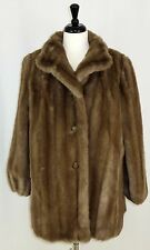 Tissavel Faux Fur Coat 16 Jacket Brown Imported Fabric France