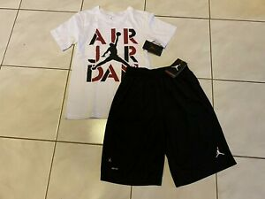 New NIKE Air Jordan Basketball SHORTS + Jordan SHIRT Boy Size M (10-12 Yrs) *$58