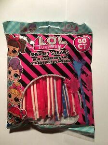 80 X Lol Surprise Sherbet Straws  Bagged