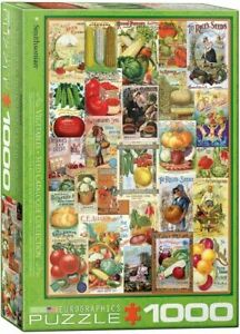 EG60000817 - Eurographics Puzzle 1000 Pc - Vegetables Seed Catalogue
