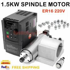 1.5KW Spindle Motor CNC Air-cooled ER16 Collets 24000rpm VFD Inverter Bracket