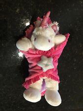 "Fiesta blanket babies 11"" Unicorn soft plush stuffed animal EUC RARE"