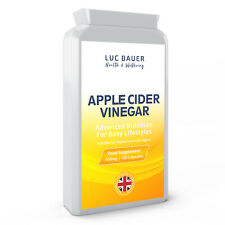 Apple Cider Vinegar 500mg - 120 Capsules. Made in Great Britain.