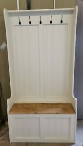 NEW HANDMADE SOLID PINE MONKS BENCH COAT STAND FARROW&BALL COLOR CHOICE
