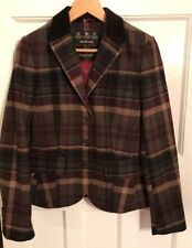 Barbour Ladies Tailored Check Blazer /Jacket UK10 / EU36(New)