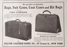 1921 AD(K9)~FULTON LEATHER GOODS INC. NYC. BAGS, SUIT CASES AND COAT CASES