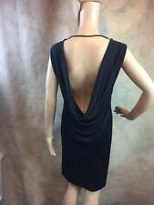 ZARA BLACK OPEN BACK DRESS SIZE LARGE B21 REF: 0909 237