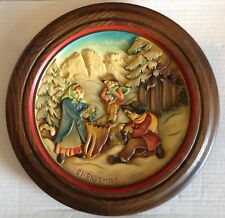 Moss Gatherers of Villnoess 1979 Christmas Plate Anri hand crafted painted