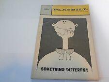 Playbill Program Something Different Cort Theatre 1968 Bob Dishy Gabriel Dell