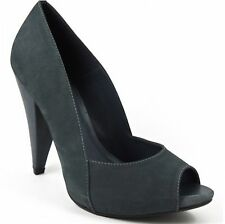 Mia Limited Edition Women's Cosmopolitan Peep-Toe Pumps Denim Leather 8.5 M