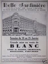 PUBLICITÉ 1930 BELLE JARDINIÈRE MISE EN VENTE DE BLANC - ADVERTISING