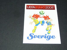 N°384 MASCOTTES SUEDE SVERIGE PANINI FOOTBALL UEFA EURO 2008