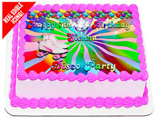 Roller Skates Disco Birthday Party Edible Icing Image Cake Decoration A4 Topper