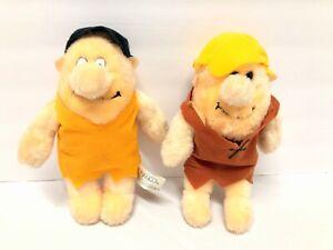 "1989 Nanco The Flintstones Fred and Barney Rubble 10"" Plush"