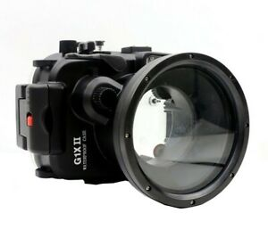 Meikon 40m/130ft Underwater Camera Housing for Canon PowerShot G1X II G1X Mark 2