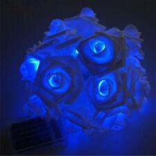 10 LED Rose Flower Xmas String Lights Fairy Wedding Christmas Party Garden Decor