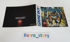 Nintendo Game Boy The Blues Brothers Notice / Instruction Manual