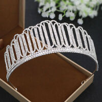 6cm High Large Full Crystal Wedding Bridal Party Pageant Prom Tiara Crown