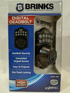 Brinks 2780-150 Digital Keypad Electronic Deadbolt - Bronze