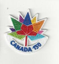 COLORFUL COUNTRY OF CANADA - 150 YEARS! 1867 TO 2017 SOUVENIR PATCH